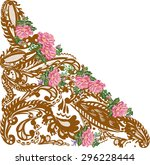 illustration with brown... | Shutterstock .eps vector #296228444
