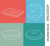 foam box. empty plastic... | Shutterstock .eps vector #296232029