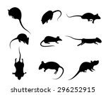 Set Of Black Silhouette Rat...