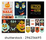 Set Trick Or Treat Poster Card...