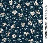 Stock vector seamless vintage flower pattern 296271347