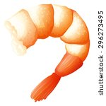 shrimp tail on white... | Shutterstock .eps vector #296273495