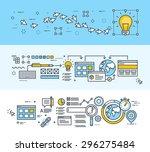 set of thin line flat design...   Shutterstock .eps vector #296275484