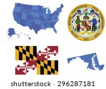 vector illustration of maryland ... | Shutterstock .eps vector #296287181