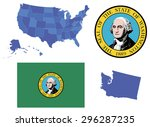 vector illustration of state... | Shutterstock .eps vector #296287235