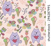 vector seamless pattern with... | Shutterstock .eps vector #296287991