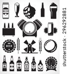 beer retro design elements ... | Shutterstock .eps vector #296292881