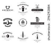 vintage beer brewery logos ... | Shutterstock .eps vector #296292884