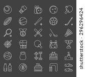 sport icons set   vector sports ... | Shutterstock .eps vector #296296424
