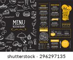 restaurant cafe menu  template... | Shutterstock .eps vector #296297135