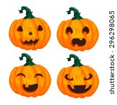 pumpkins for halloween | Shutterstock .eps vector #296298065