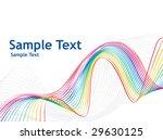 rainbow wave line | Shutterstock .eps vector #29630125