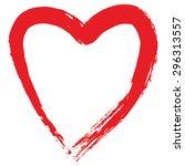 cupid's heart | Shutterstock .eps vector #296313557