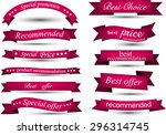 set of magenta banners and... | Shutterstock .eps vector #296314745