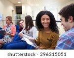 college students having... | Shutterstock . vector #296315051