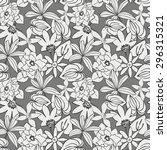 flowers seamless pattern  eps 8 | Shutterstock .eps vector #296315321