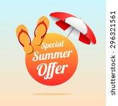 special summer offer   Shutterstock .eps vector #296321561