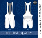 cycling bib short template.... | Shutterstock .eps vector #296324285