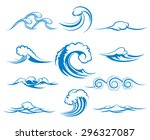 waves of sea or ocean waves ... | Shutterstock .eps vector #296327087