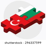 vector image   turkey and... | Shutterstock .eps vector #296337599