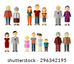 vector set of flat family.... | Shutterstock .eps vector #296342195