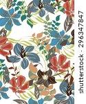 floral seamless pattern  ... | Shutterstock .eps vector #296347847