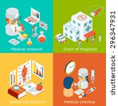 set of medical care vector... | Shutterstock .eps vector #296347931