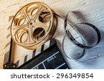 Film Camera Chalkboard And Rol...