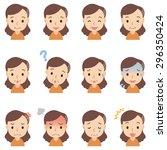 "cute upper body people ""senior... | Shutterstock . vector #296350424"