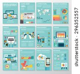 big infographics in flat style. ... | Shutterstock .eps vector #296352557
