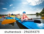 a group of youths practice... | Shutterstock . vector #296354375