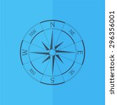 wind rose compass vector icon.... | Shutterstock .eps vector #296356001