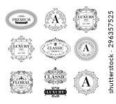 luxury logo template glamour... | Shutterstock .eps vector #296357525