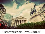 bank of england  the royal... | Shutterstock . vector #296360801