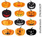 halloween is a collection of 9... | Shutterstock .eps vector #296361629