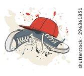 drawing vector illustration... | Shutterstock .eps vector #296361851