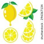 vector lemon. lemon fruit... | Shutterstock .eps vector #296367134