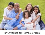 a portrait of a mixed ethnicity ... | Shutterstock . vector #296367881
