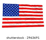 the american flag 3d | Shutterstock . vector #2963691