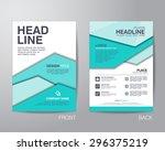 corporate brochure flyer design ... | Shutterstock .eps vector #296375219