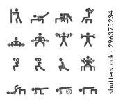 people exercise in fitness icon ... | Shutterstock .eps vector #296375234