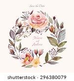 wedding invitation template... | Shutterstock .eps vector #296380079