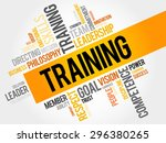 training word cloud  business... | Shutterstock .eps vector #296380265