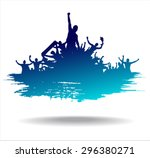 advertising banner sports... | Shutterstock .eps vector #296380271