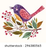 hand painted vector adorable... | Shutterstock .eps vector #296380565