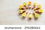 assortment of smiley faces... | Shutterstock . vector #296380661