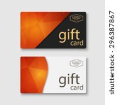 voucher  gift certificate ... | Shutterstock .eps vector #296387867