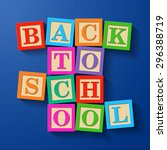 back to school phrase compiled... | Shutterstock .eps vector #296388719