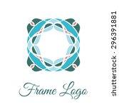 vintage ornamental square logo. ... | Shutterstock .eps vector #296391881