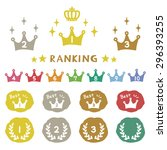 ranking crown  hand drawn icons ... | Shutterstock .eps vector #296393255